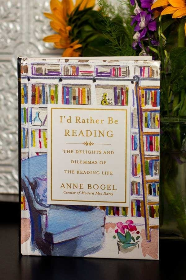 Anne Bogel's I'd Rather Be Reading is a gift book of essays from her, a devoted reader, to other devoted readers everywhere.  #IdRatherBeReading #ModernMrsDarcy #GiftBooks #Books #Reading #BookReview #MassConsternation