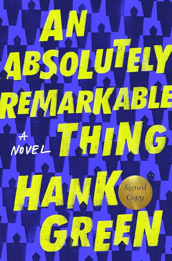 Hank Green\'s debut YA novel, An Absolutely Remarkable Thing is released. There are a few randomly funny things. Not really a book review, but kind of a book review.  #Books #YABooks #BookBlogger #HankGreen #Vlogbrothers #AnAbsoutelyRemarkableThing #MassConsternation